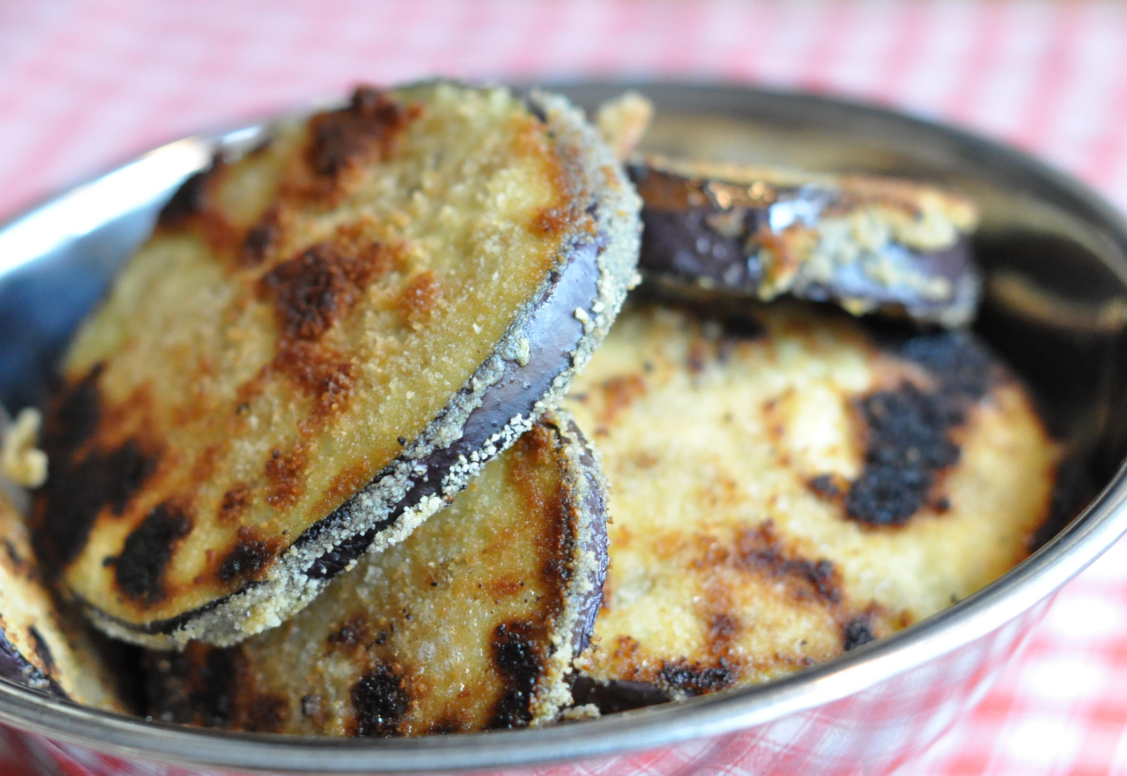 Breaded aubergines