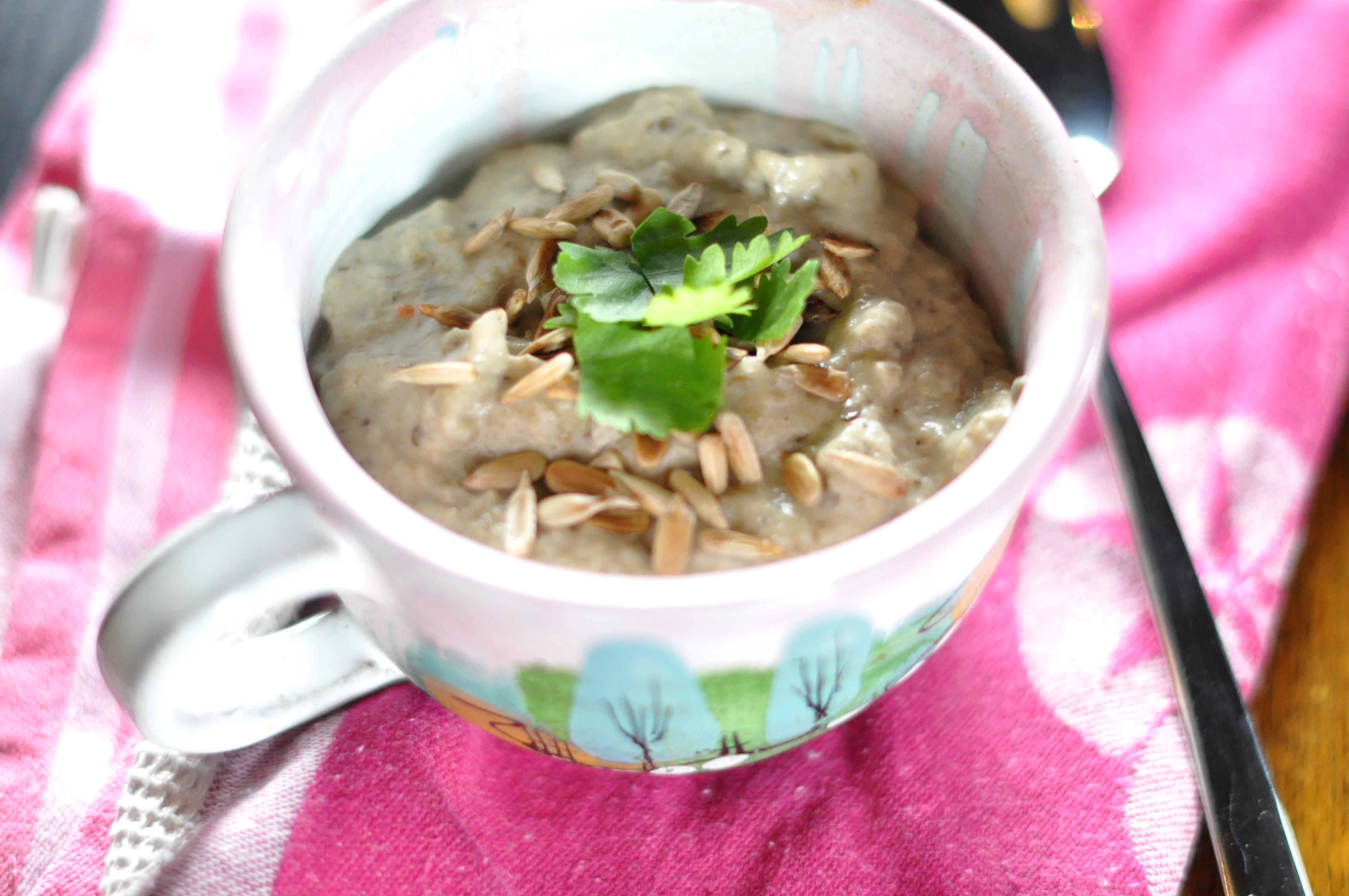 Kokosowa zupa z pieczonego bakłażana